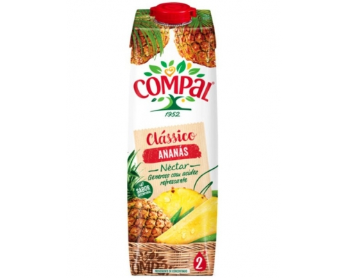 Néctar Piña Compal Clássico 1 L Néctares Frutas Compal