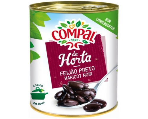 Compal Black Beans In Water 845 Gr