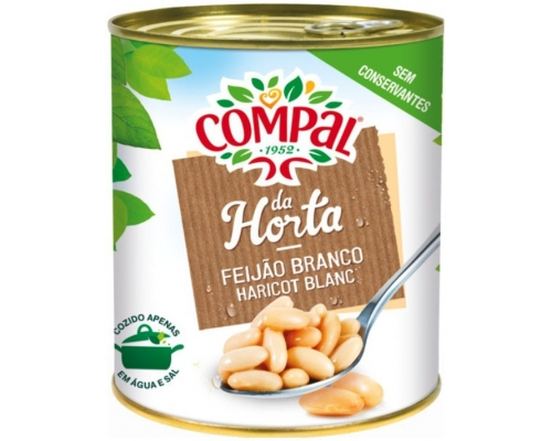 Compal White Beans In Water 845 Gr