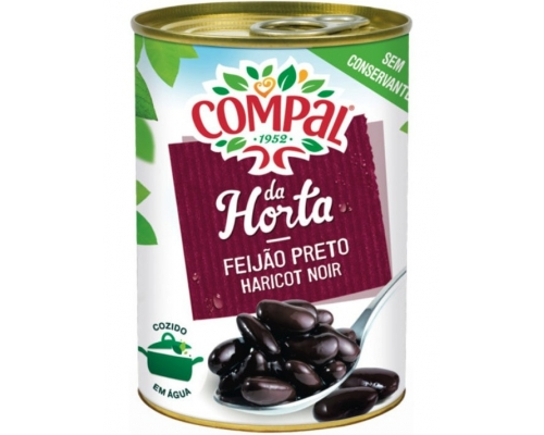 Compal Black Beans In Water 410 Gr