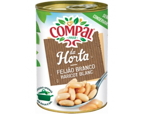 Compal White Beans In Water 410 Gr