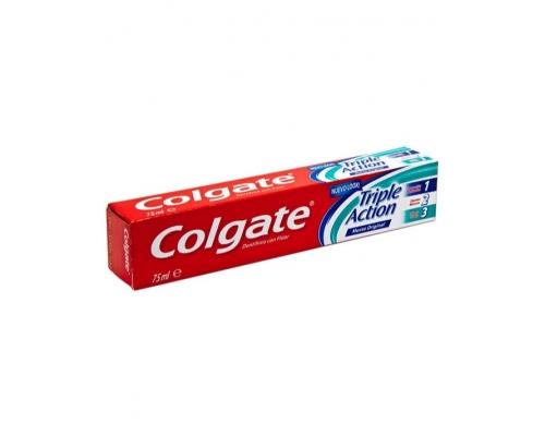 Dentífrico Triple Action Con Fluor y Sabor a Menta Colgate 75 Ml Dentífricos Colgate