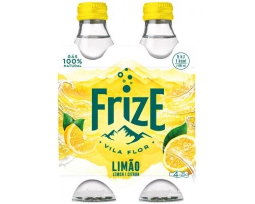 Agua Mineral con Gas Sabor Limón Frize 4 x 0,25 L Agua con gas Sabores Frize