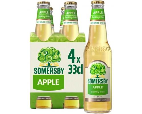 Sidra Manzana Somersby 4 x 0,33 L Sidras y Cervezas Sabores Somersby