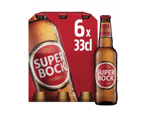 Super Bock Lager Beer 6 x 0,33 L