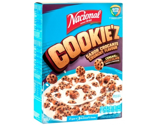 Nacional Cereal Cookie'z 300 Gr
