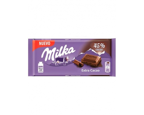 Milka Extra Cocoa Chocolate Bar 100 Gr