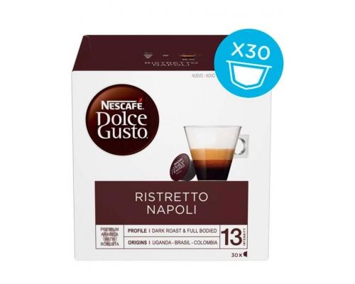 Cápsulas Café Dolce Gusto Ristretto Napoli Nescafé 30 Un
