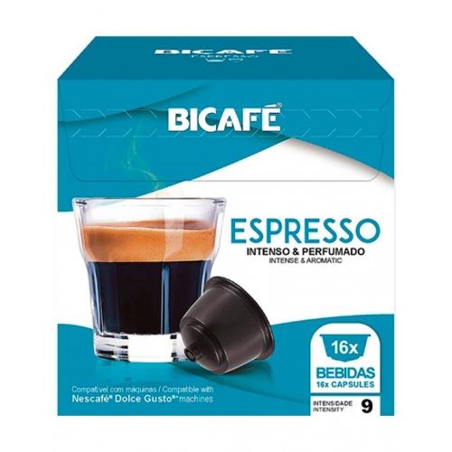 Cápsulas Compatíveis Dolce Gusto Espresso Café Bicafé 16 Un