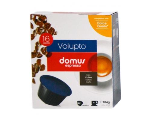Cápsulas Dolce Gusto Compatíveis Volupto Domus Espresso 16 Un