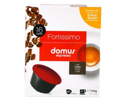 Cápsulas Dolce Gusto Compatíveis Fortissimo Domus Espresso 16 Un