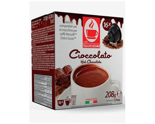 Cápsulas Compatíveis Dolce Gusto Bonini Chocolate 16 Un