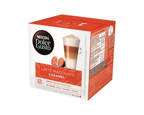 Cápsulas Latte Macchiato Caramel Nescafé Dolce Gusto 16 Un