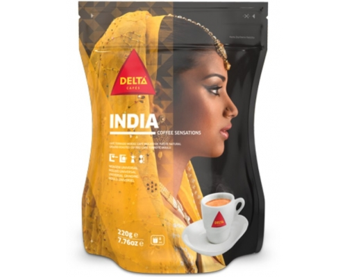 Delta India Ground Roasted Coffee 220 Gr