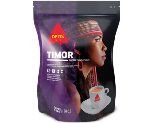 Delta Timor Ground Roasted Coffee 220 Gr
