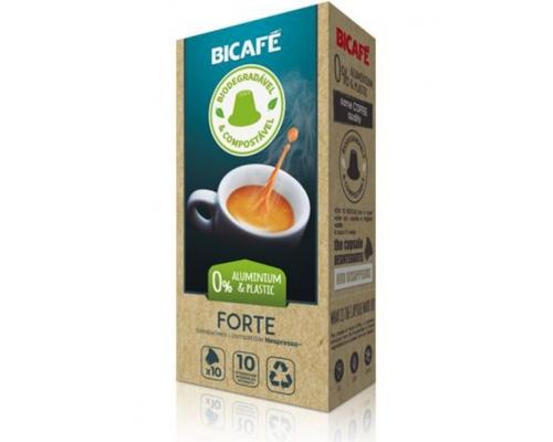 Cápsulas Biodegradáveis Nespresso * Forte Café Bicafé 10 Un
