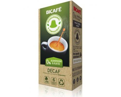 Cápsulas Biodegradables Nespresso * Descafeinado Café Bicafé 10 Un
