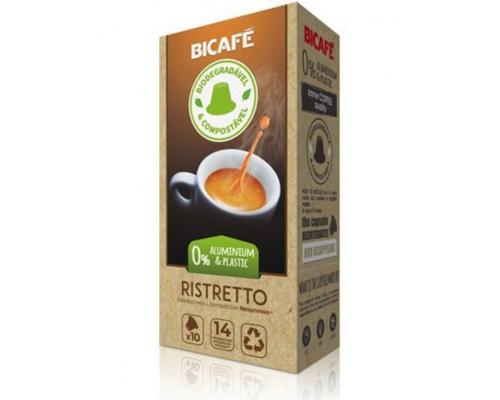 Cápsulas Biodegradáveis Nespresso * Ristretto Café Bicafé 10 Un