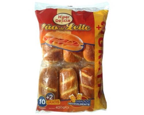 Pão de Leite Hiper Delícia 10+2 Un