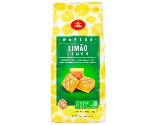Vieira Lemon Wafers Cubes 125 Gr