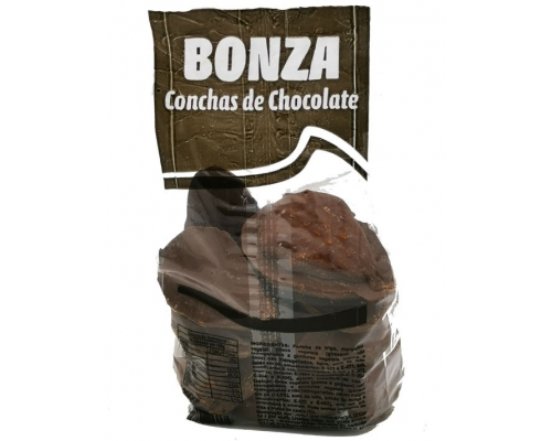 Biscoitos Conchas Chocolate Bonza 200 Gr